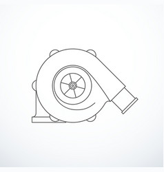turbocharger isolated vector image