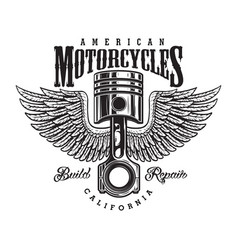 vintage monochrome motorcycle label vector image