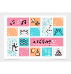 Wedding infographic template vector