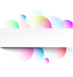 white abstract background with colour circles vector image