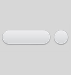 white web interface buttons 3d elements vector image