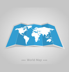 world map with shadow on a grey background vector image