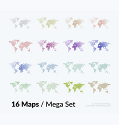 World map with sticks lines rounds vector