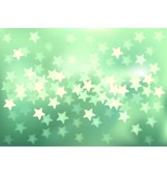 Green festive lights in star shape background vector image vector image