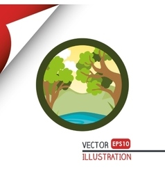 Nature icon design vector image vector image