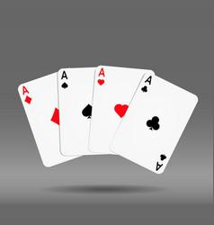poker hand of cards diamond spade heart vector image vector image