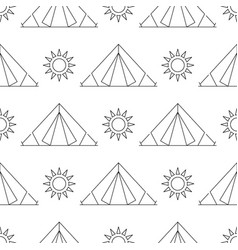 Seamless pattern camping vector
