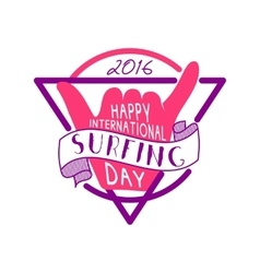 Summer surfing day tattoo design Vacation vector image vector image
