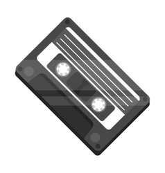 Audio cassette icon in monochrome style isolated vector image vector image