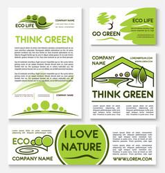 eco green business banner template set design vector image