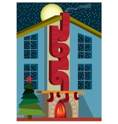 Happy New Year in town greeting card vector image vector image