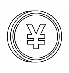 Japanese yen currency symbol icon outline style vector image vector image