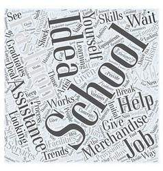 fashion merchandising schools Word Cloud Concept vector image vector image