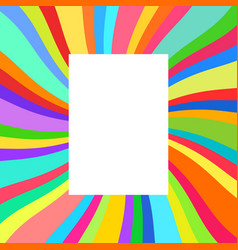 festive poster colorful rays vector image