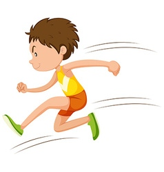 Man athlete running in a race vector image vector image