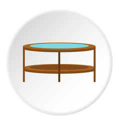 Round trampoline icon circle vector