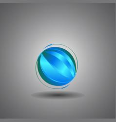 Techno globeinternet technology world logo vector