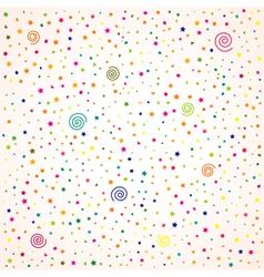 birthday background confetti vector image vector image