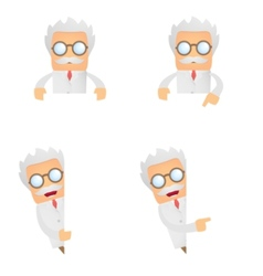 cartoon scientist vector image vector image