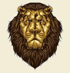 Lion Head vector image vector image