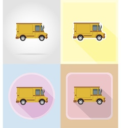 old retro transport flat icons 14 vector image vector image