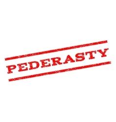 Pederasty Watermark Stamp vector image