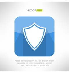 Shield icon made in modern clean and simple flat vector image vector image