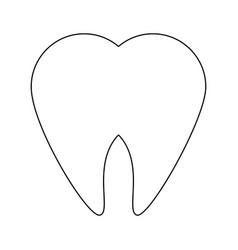 tooth dental symbol vector image