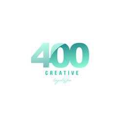 400 green pastel gradient number numeral digit vector