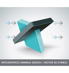 Abstract 3d symbol design template vector