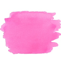 Abstract watercolor bright pink texture vector