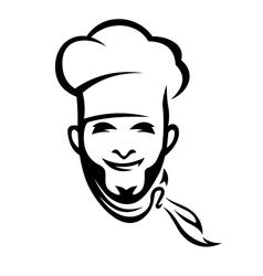 American chef vector