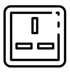 American power socket icon outline style vector