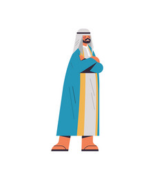 arabic man in traditional clothes arab businessman vector image