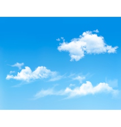Background with blue sky and clouds backgrounds vector image