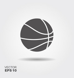 basketball flat con vector image