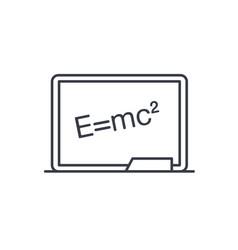 blackboard chalkboard thin line icon linear vector image
