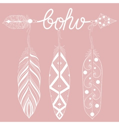 Bohemian Arrow on pink vector