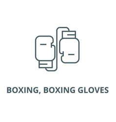 Boxing boxing gloves line icon boxing vector