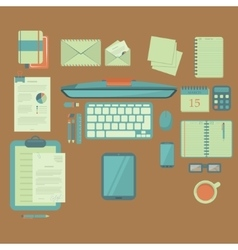 Businessman work table vector image
