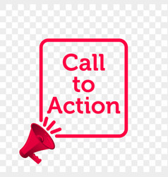 Call to action message quote megaphone icon vector
