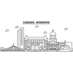 Canada winnipeg architecture line skyline vector