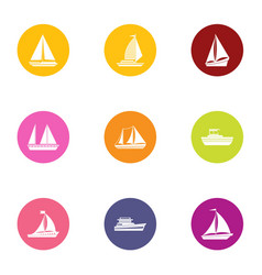 Canvas icons set flat style vector