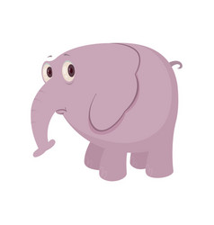 Cartoon sad elephant vector