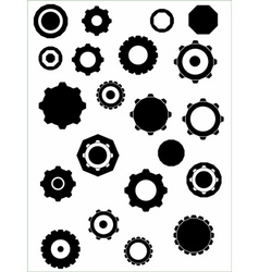 Cogs graphic elements vector
