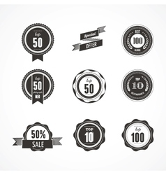 Collection of Premium quality and Labels vector image