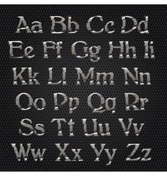 cut alphabet metallic vector image