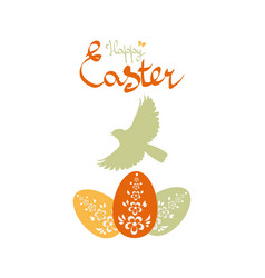Easter background with birds and eggs vector