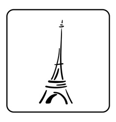Eiffel tower in a simple sketch style 1 vector