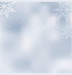 falling shining snow or snowflakes vector image